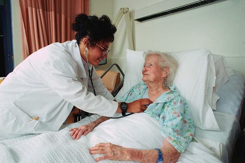 hospital bed patient end of life