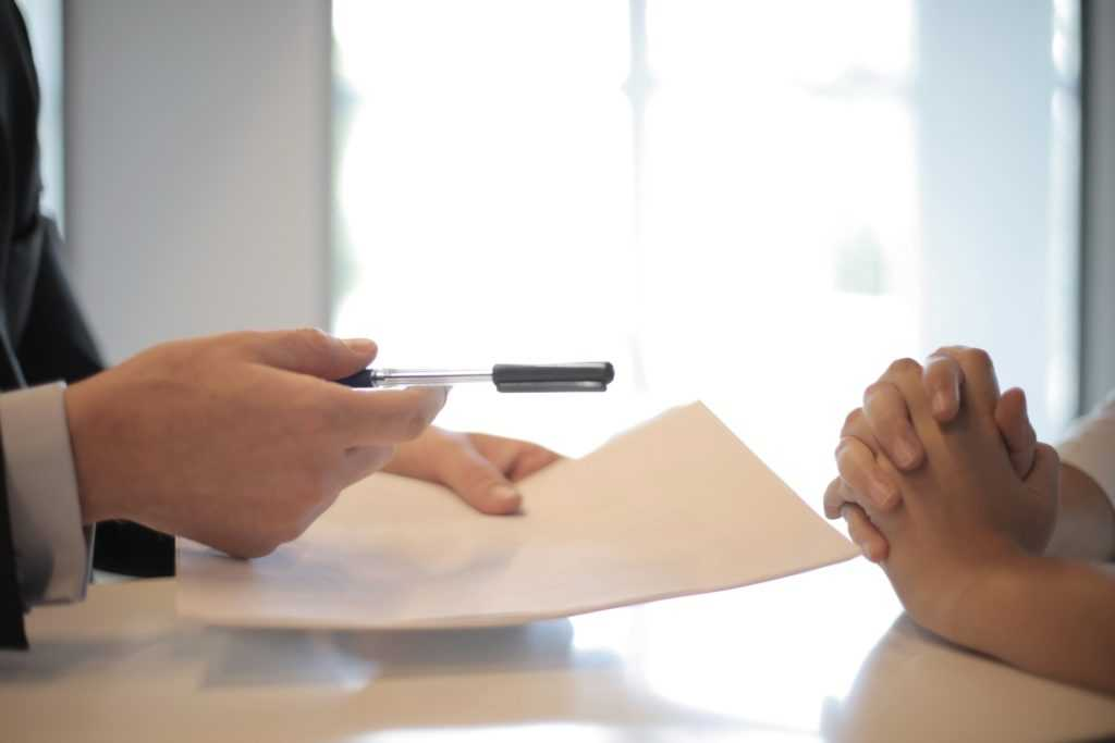 living trust Will document signing